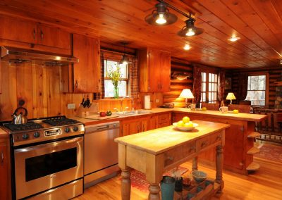 Homestead Cabin Large Kitchen