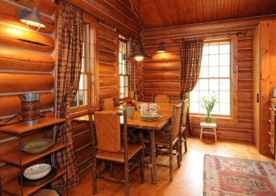 The Yellowstone Cabin Dining and Kitchen