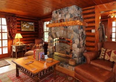 The Homestead Living Room Fireplace
