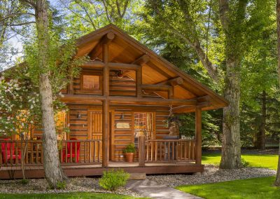 Ennis homestead log cabin